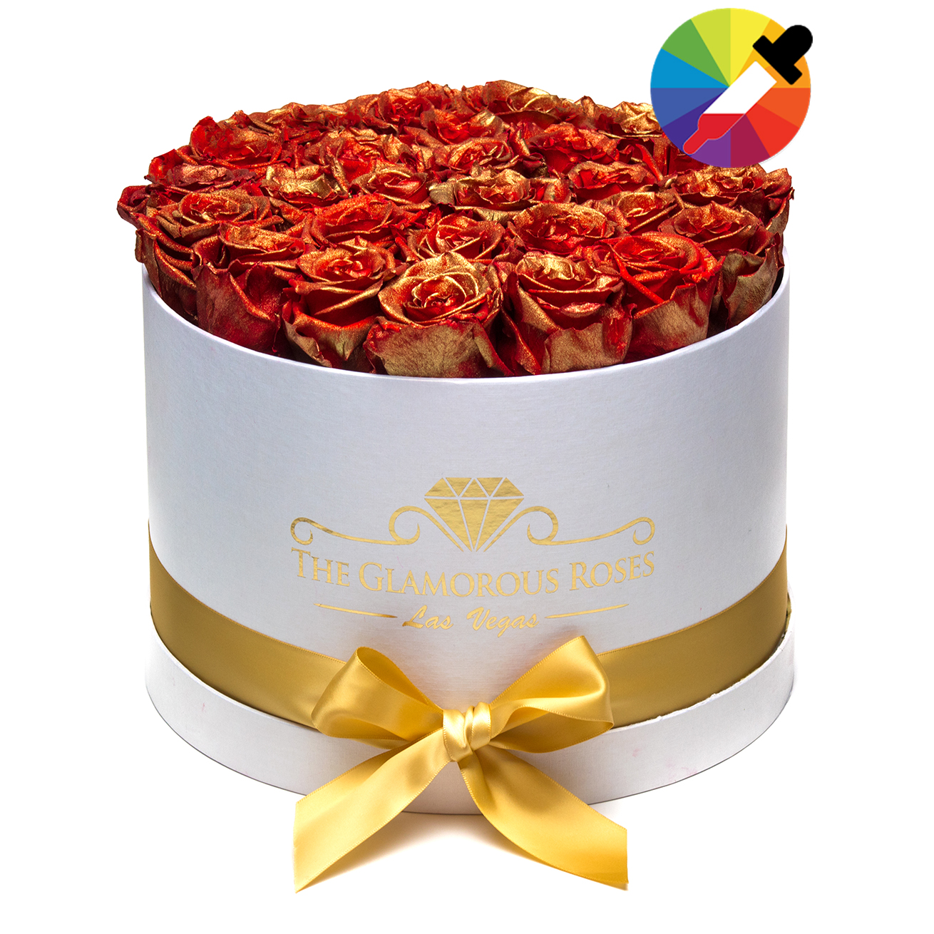 Customize your own Large Round Box - The Glamorous Roses